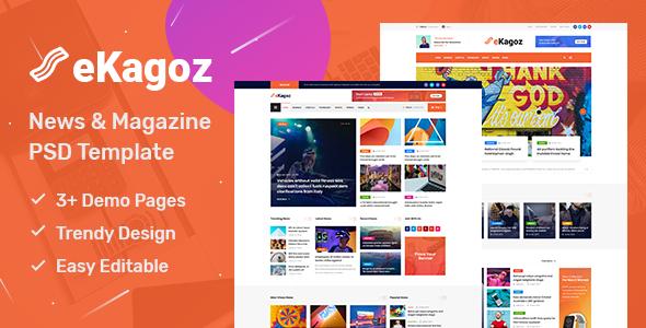 Best Blog, News & Magazine PSD Template