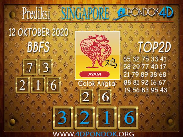 Prediksi Togel SINGAPORE PONDOK4D 12 OKTOBER 2020