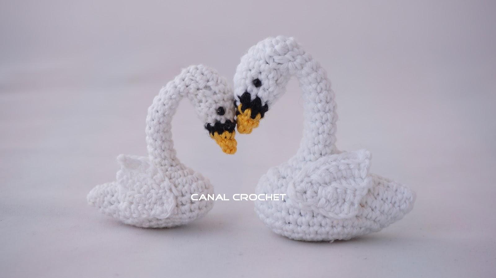 CANAL CROCHET: Cisne amigurumi tutorial