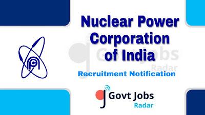NPCIL Recruitment Notification 2019, NPCIL Recruitment 2019 Latest, govt jobs in India, central govt jobs, Latest NPCIL Recruitment update