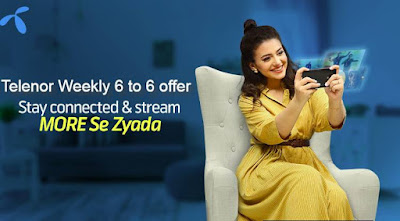 Telenor weekly 6 to 6 offer Details Price