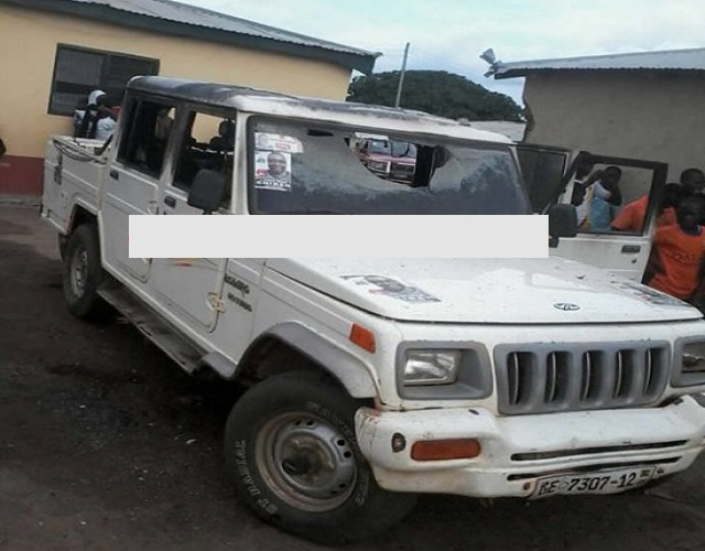 Angry NDC youth set party office ablaze; burn chairman's car