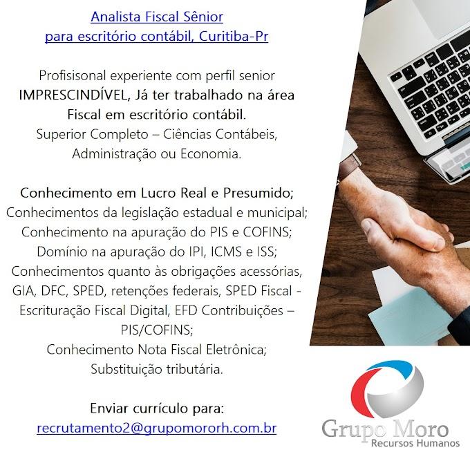 Analista Fiscal Sênior, Curitiba, PR