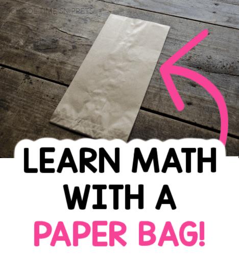 paper bag number line activity