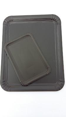 bandeja carton negra