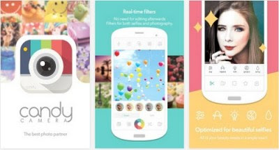 Aplikasi Candy Camera for Selfie