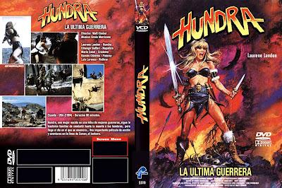 Carátula dvd: Hundra (1983)- La última guerrera