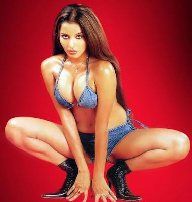 Hot Indian Model Monalisa in Blue