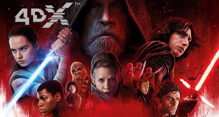 Los Últimos Jedi son poderosos en 4DX