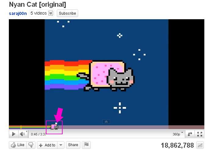 Nyan Cat Google Chrome Youtube Plug In