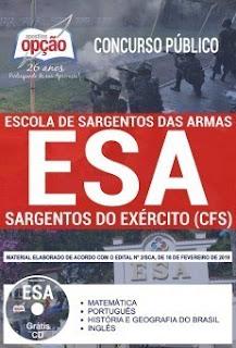 Baixar Apostila Concurso ESA 2019 PDF