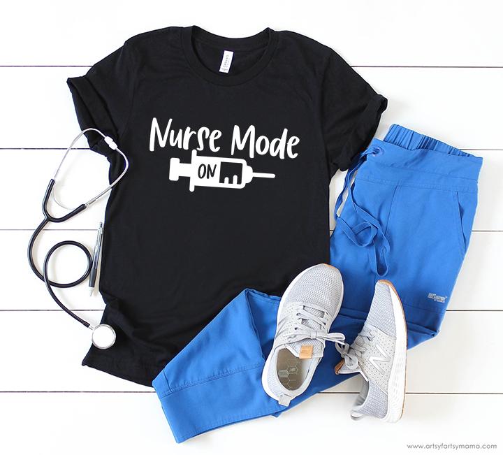 Nurse Mode On/Off Shirt Free Cut Files