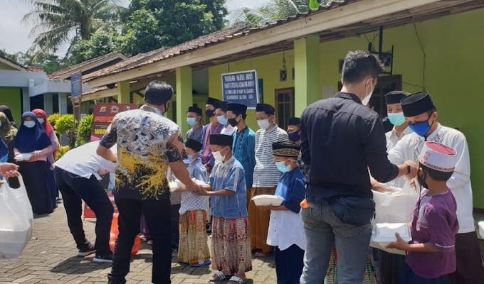 Ditresnarkoba Polda Banten Gelar Waroeng Jum'at di Yayasan Yatim Piatu Nurul Ibad