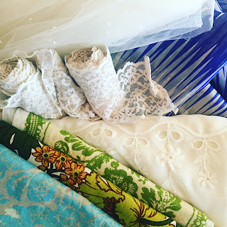 vintage lace and fabric