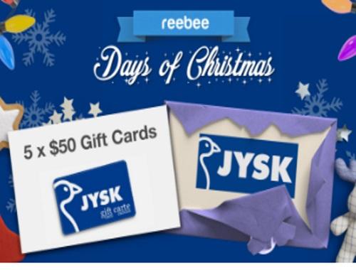 Reebee JYSK Gift Card Giveaway