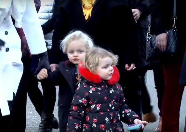 Prince Albert, Princess Charlene, Princess Gabriella and Prince Jacques visited Teleton and Christmas Market
