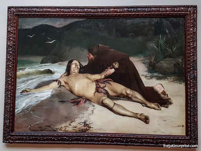 """O Último Tamoio"", tela de Rodolfo Amoedo, no MNBA"