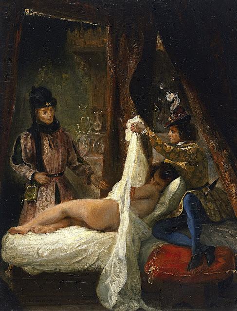 Eugene Delacroix - Il duca d'Orleans svela un'amante - erotismo - arte