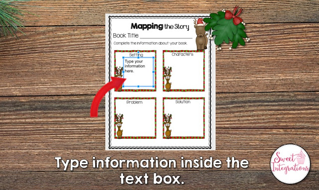 """Type information inside the text box"" with a visual example"