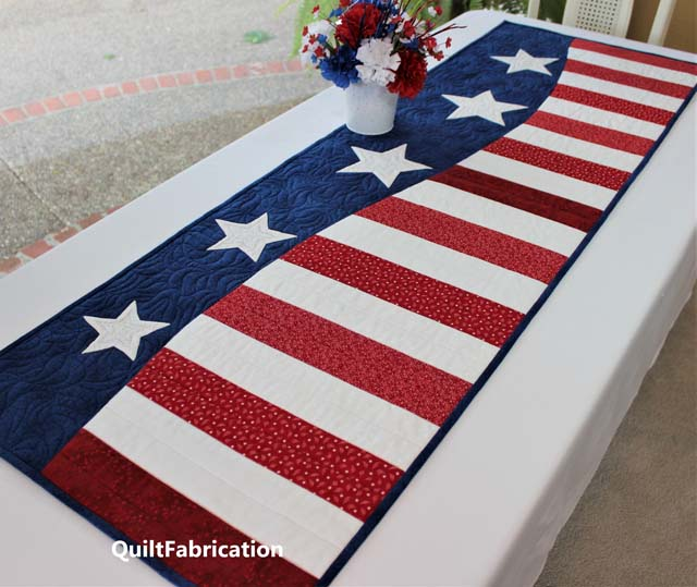 Patriotic Wave pattern by QuiltFabrication