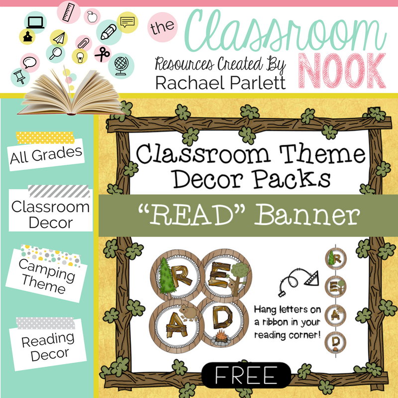 Create your camping themed classroom with these decor printables.