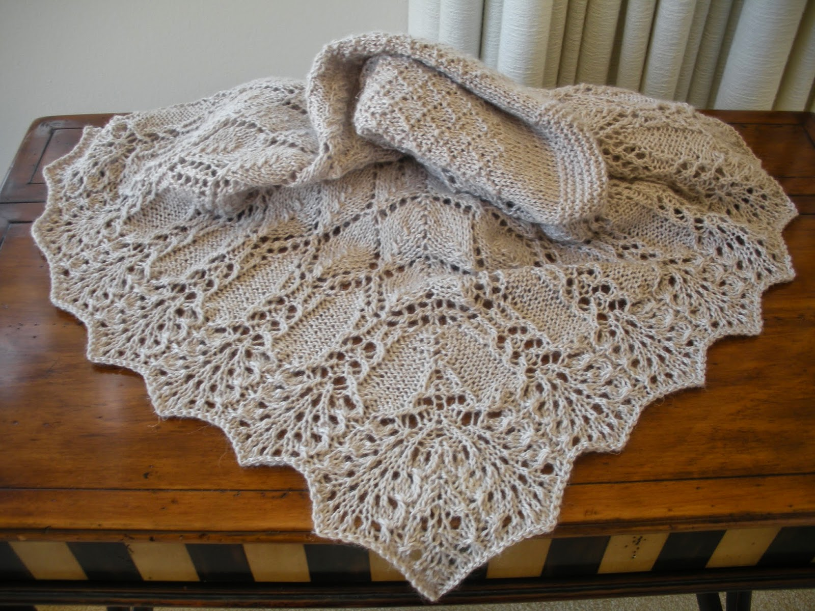 Yarn In, Yarn Out: Free Pattern Link: Evolution Shawl