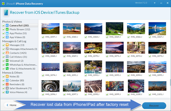 iPhone Data Recovery: 3 Ways to Recover Lost Data from iPhone after Factory Reset