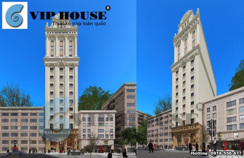 Hình ảnh:Thiết kế khách sạn 3 sao đáp ứng đầy đủ nhu cầu kinh doanh của chủ đầu tư với trên 50 phòng ngủ và các tiện ích kết hợp.