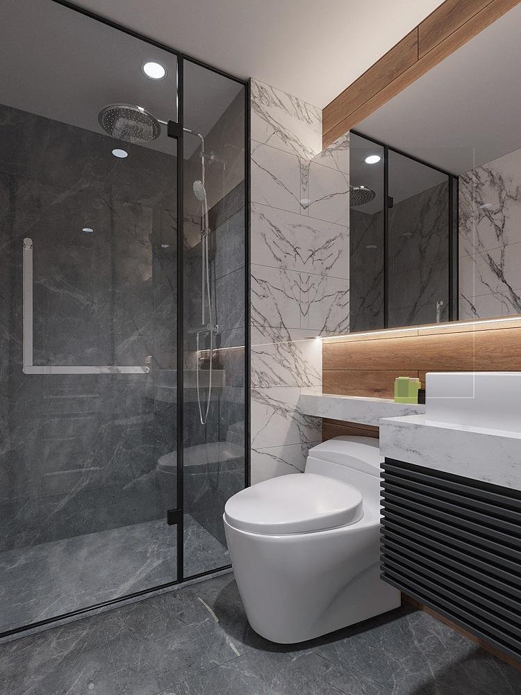 Phòng tắm tại nhà mẫu BRG Lê Văn Lương