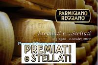 Logo Parmigiano Reggiano ''Premiati e...stellati 2020'' : vinci buoni spesa fino a 50 euro e non solo
