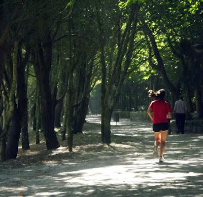 corredora no Parque da Cidade