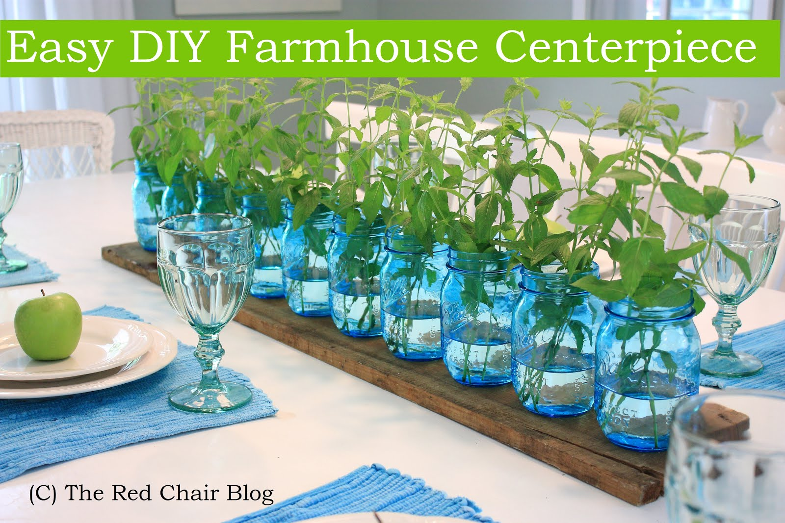 Easy DIY Farmhouse Centerpiece