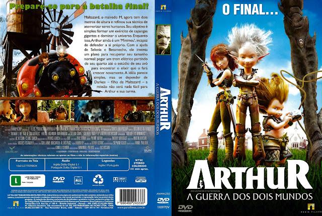 Capa DVD ARTHUR A GUERRA DOS DOIS MUNDOS