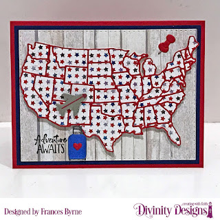 Stamps_ Adventure Awaits_ Custom Dies_ USA Map_ Double Stitched Rectangles_ Paper Collections_ Patriotic Collection_ Weathered Wood Collection