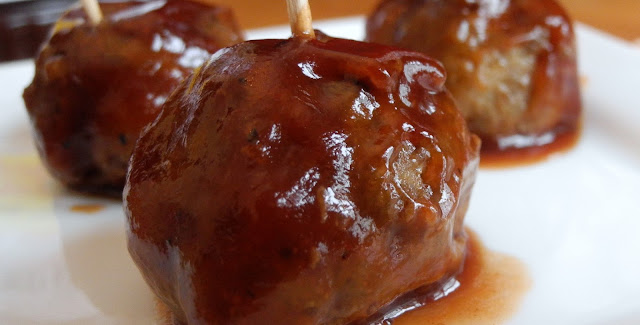Crock-Pot, Barbecue Mini Meatballs , Weight Watchers Recipe , 3 Smart Points