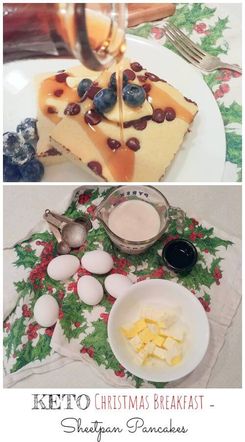 Keto Christmas Breakfast - Sheet Pan Pancakes