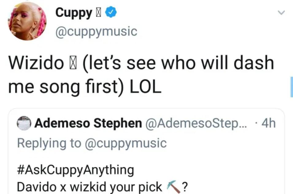 DJ Cuppy Reveals Who She Prefers Between Wizkid And Davido
