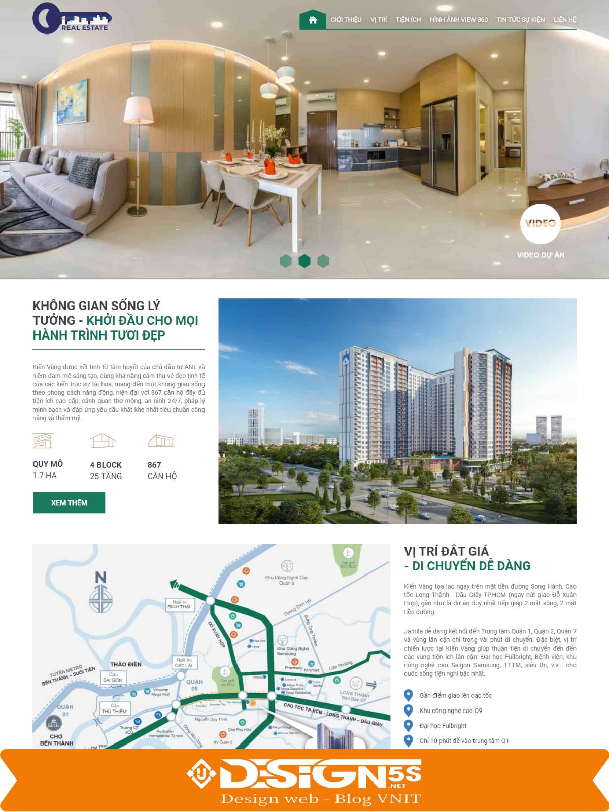 Theme blogspot landing page bất động sản, hiện đại  VSM55 - Ảnh 1