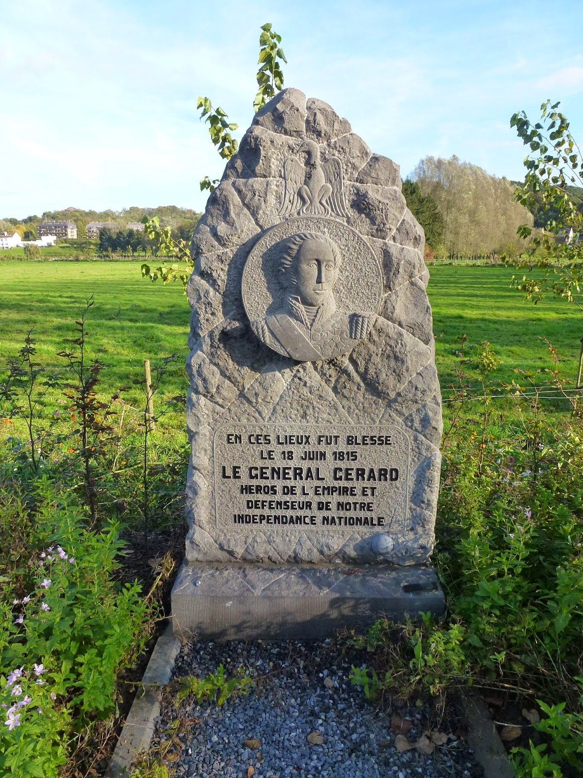 Monument commemorating the wounding of General Gerard