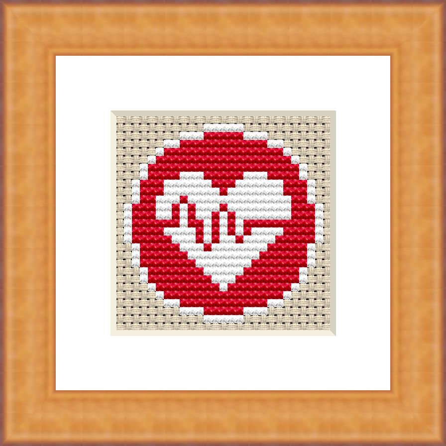 Medical heart cross stitch pattern