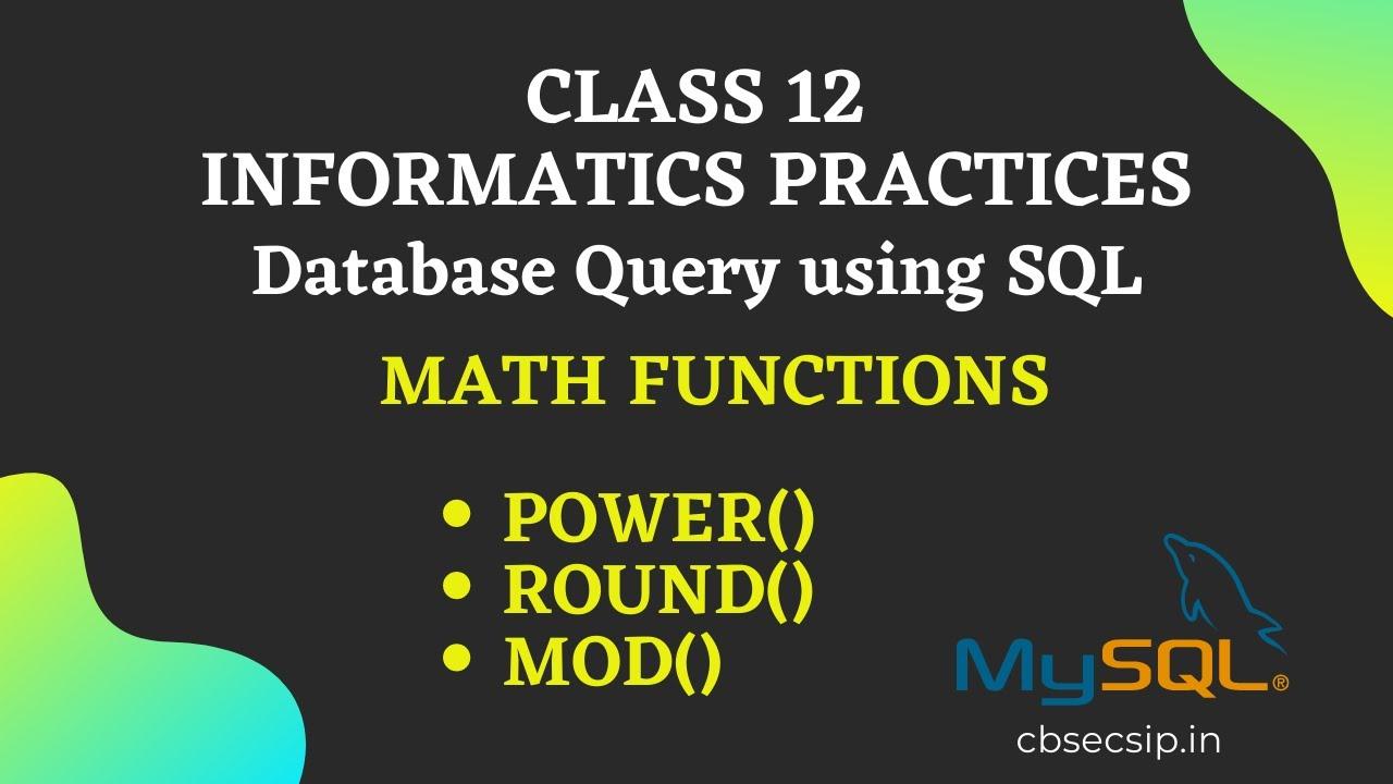 MySQL Math Function