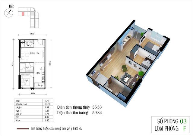 Thiết kế căn hộ 03 tòa CT2 Eco green city