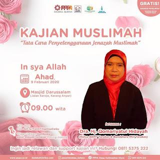 Hadirilah Kajian Muslimah di Masjid Darussalam Karang Anyar Tarakan oleh Ustadzah Dra Hj Qomariyatul Hidayah 20200209 - Kajian Islam Tarakan