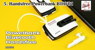 Handsfree Powerbank BTHF01 merupakan salah satu aksesoris handphone yang cocok dijadikan souvenir