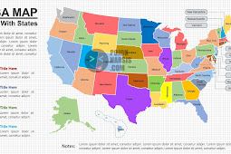 US Map With States on a Powerpoint Slide PPTX
