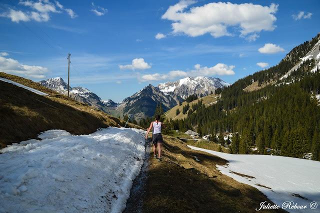 Randonnée dans les Alpes suisses