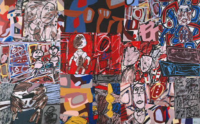 Jean Dubuffet - Les vicissitudes,1977.