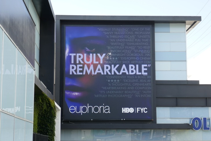 Euphoria season 1 Emmy FYC billboard