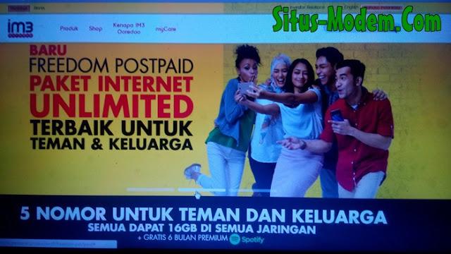 Paket Freedom Postpaid : Promo Paket Internet Unlimited Indosat Ooredoo Termahal Cuma Rp 149.000