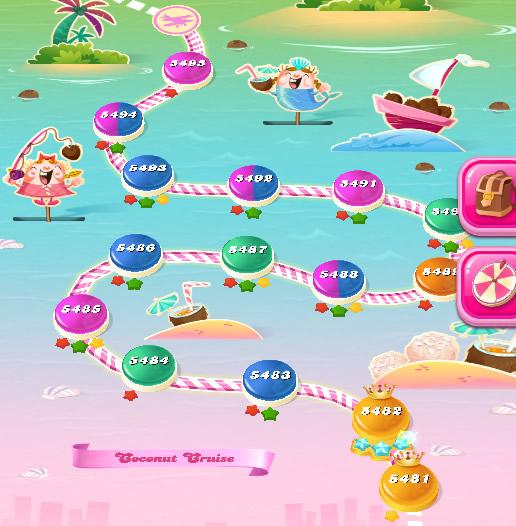 Candy Crush Saga level 5481-5495